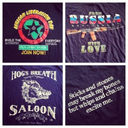 Sneak peak at some of the 100 #vintage #tees @redlightvintage got in. #vintageforsale #redlightvintage #vintagetshirt