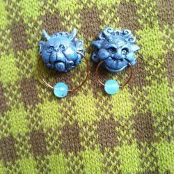 Labyrinth gargoyle knocker earrings, $14. #redlight #redlightvintage #vintage #jewelry #shoplocal #bowie