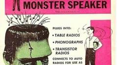 Vintage monster speaker