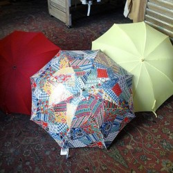 An umbrella for every occasion. #redlightvintage #umbrella #vintage #color
