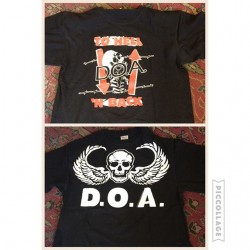 New D.O.A tour shirts in the store. Top: $20. Bottom: $16. #tees #bandtees #doa #redlightvintage